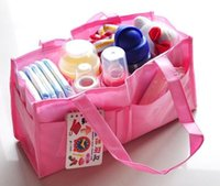 designer baby bag - 2 colors Multifunctional mummy bag fashion designer baby diaper bags mother high quality double layer solid women pregnant bag