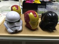 Wholesale DHL FREE new star wars ml Iron Man Helmet Shaped Plastic Coffee Mug Cup Holder D Tea Cup Drinkware Snack Container Mugs