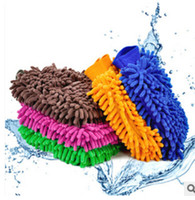 Wholesale Fashin new hot sale Microfiber Snow Neil fiber high density car wash mitt car wash gloves towel
