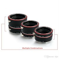 Wholesale New Aputure AC MC Macro Extension Tube ForDSLR camera C Lens Shoot mm mm mm