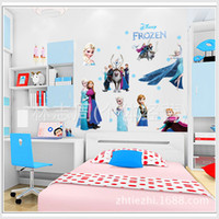 Wholesale 60 CM Frozen Wall Stickers Decorations D Removable Wall Decals Kid s Room Wall Art Stickers Home Decoration Wallpaper cartoon