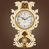 antique table restaurant - 100 real picture Lai Sheng new Continental mute living room wall clock wall clock sided clock hanging table table restaurant bedroom quart