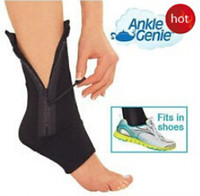 Wholesale Ankle Genie Zip up Compression Support One Size Fits All Zip Up Compression Brace Sprain Sleeve Protective Brace