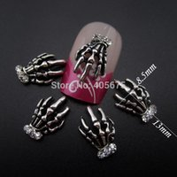 antique hand tools - MNS574S Antique sliver hand skeleton halloween nail tools Scrapbooking d nail art supplies