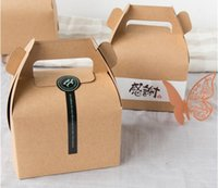 Wholesale Muffin Cupcake Packaging Kraft Paper or white Box cmX8 cmX10cm