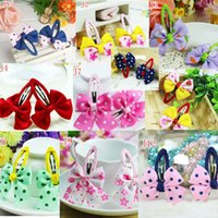 Wholesale 200pcs New fashion cheap kids Baby accessories children girls hair ornaments hair bands hair clips Butterfly