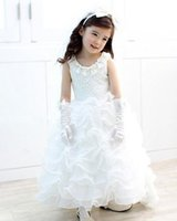 kids clothes high quality - White Mullet Long Dresses For Big Children Girls Lace Flower High Quality Kids Wedding Formal Dresses CakeTulle Skirts Party Clothing L1017