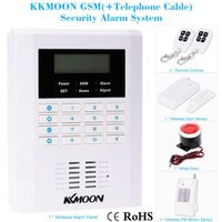 Wholesale Secure Gsm Alarm - KKMOON Wireless 433MHZ GSM PSTN SMS Home Burglar Security Secure and Reliable Alarm System Detector Sensor Kit Remote Control order<$18no tr