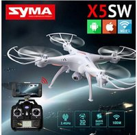 Wholesale 100 Original SYMA X5SW WIFI RC Drone fpv Quadcopter with Camera Headless G Axis Real Time RC Helicopter Quad copter Toys Freeshipping