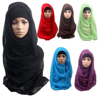 Wholesale PrettyBaby Fashion Muslim Long Soft Hijab Maxi Islamic Scarf Shawl Wrap Women Ladies Accessories muslim hijab cotton muslim shawl in stock