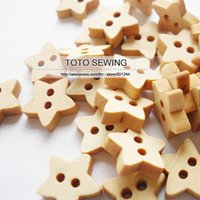 Cheap FREE SHIPPING,2 holes star shaped natural wood buttons, flatback ,size 13*13MM,100pcs lot, Min.order is $12 (mix order),T2018564