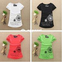 big bike shorts - M L XL New Fashion Women Big Size T Shirts Cotton Printed Lady Bike T Shirts Female Tops Tee