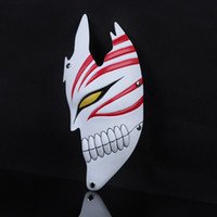 half face helmet - Mask Halloween Japen Cartoon Bleach Masquerade Masks Half Face Costume Cosplay Helmet Party Masks