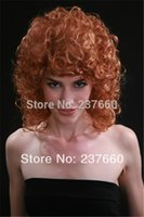 Cheap Fashion women wigs Funky Lite Curly Short Blond Wig Cheap price Free Shipping