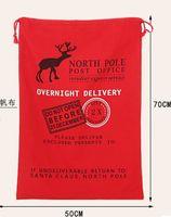 Wholesale Hot Sale Christmas Decoration Supplies Hot Sell Elk Organic Cotton Navidad Santa claus sack xmas Gift Bags