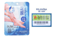Wholesale ROLANJONA feet mask Milk and Bamboo Vinegar Feet Mask skin Peeling Exfoliating Dead Skin Remove for Feet care g pair Hot Selling