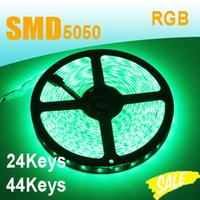 Wholesale LED Strip Lights LED RGB Waterproof M M Set With or Keys Remote Controller DC12V A Power Adapter