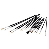 acrylic paint for plastic - 15pcs Different Shape Bristle Hair Paint Brush Paintbrush Set Watercolor Gouache Oil Painting Acrylic Art Supplies For Drawing H14976