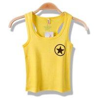 factory direct wholesale - Children pentagram printed word vest cotton summer fashion children wear boys word vest vest factory direct boy comfort