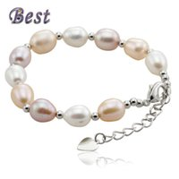 best pearl bracelets - Best Pearl RealNatural Freshwater Pearl Bracelet with sterling silver Clasp Cultured genuine Pearl Beads For Woman