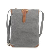 Wholesale High quality Cow Leather Canvas Bag Casual Handbag Large Capacity Handbag Travel Duffel Bags Laptop Rucksack