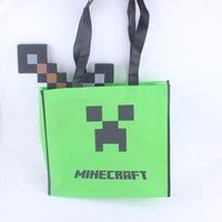 36 * 32CM Minecraft sacchetto regalo minecraft borsa capretto uomini donne unisex Minecraft Creeper JJ grande tasca casa sacchetto con errori dell'allievo custodia Pouch