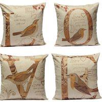 Wholesale Love Couple Letter Throw Cotton Linen Pillow Case Cushion Cover Home Decor NEW
