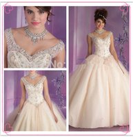 Princesa doce do Aqua / Champagne vestido vestido de baile para 15 Anos Debutante Vestido de Cristal Vestidos Quinceanera Quinceanera Vestidos