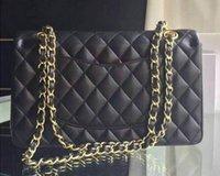 Wholesale Famous designer classical double flap Quilted Bags shoulder chain bag women handbag messenger cross body evening bag