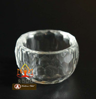 antique rocking - T Tibetan Buddhist Handmade Rock Crystal Quartz White Crystal Bowl Holy Water Cup