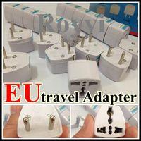 Wholesale Free DHL Universal Travel Power Plug Adapter UK AU US to EU Adaptor Converter Pin AC Power Plug Adaptor Connector