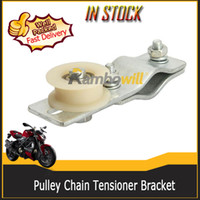 bicycle engine - Motorcycle Adjustable Pulley Chain Tensioner Bracket Bracket Plastic Roller Fits cc cc cc cc stroke Engine Motorized Bicycle