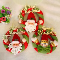 best christmas garland - best selling Christmas tree decorations Christmas wreath Christmas door wreath cloth hanging Christmas knocker Santa Claus Snowman Garland
