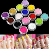 Wholesale New hot sale Fashion Tips Fuzzy Flocking Velvet Nail Powder Nail Art Tools Colors Tweezer