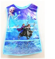Wholesale Frozen Aprons waterproof PVC Aprons children Aprons cartoon Aprons