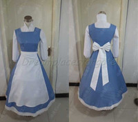 beauty and the beast costume - High quality Beauty and the Beast Belle Costume Belle Cosplay Maid Dress Outfit Hand made