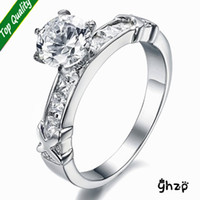 cluster rings romantic womens galaxy royal design 125ct ideal cut swiss cubic zirconia diamond halo wedding ring gift of love - Wedding Ring Prices