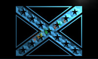 advertising - LH051 TM Rebel Confederate Flag Neon Light Sign Advertising led panel jpg