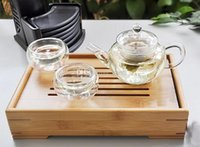 tea sets wholesale - New Arrive ml Glass Teapot Tea pot Easy Use Tea Set For Make Flower Tea And Coffee