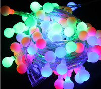 christmas lights and decorations - 10M led string lights leds ball v Fairy tale String Light Garden For Wedding Lamp Christmas and Birthday Party Decoration lighting