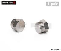 Wholesale TANSKY Mild Steel Zinc Plated Hex Bolt Bung Plug for Oxygen Sensor Bung M18x1 Thread color is silver TK CGQ66