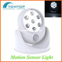 Wholesale Wall Lamps Degree White Sensor Light Cordless Motion Activated V LEDS Porch Lights Rotation Light
