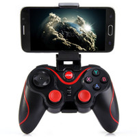 android phone controller - Terios T3 Wireless Bluetooth Gamepad Joystick Game Gaming Controller Remote Control for iphone ios Samsung S6 S7 Android phone with Holder