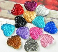 baby girl scrapbooking - 300pcs Resin disco Bling Heart Cabochons Flatback scrapbooking mm heart Gems Mixed Colors Baby Girl Decor sparkle druzy