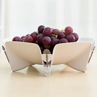 candy dish - Wholesales Snack Trays PP Snacks Plate Fruit Table Bowl Decor Candy Dish Storage Bar Accessories with Fruit Fork JE0013 smileseller