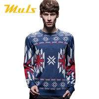 acrylic paul - Fashion style knitted pullover sweater men MULS stone brand acrylic O neck long sleeve polo jumper xl paul jas sueter JX A