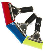 auto tint tools - High Quality Auto Window Film Tint Tool Angled Pro Squeegee With Handle Blue Green Red