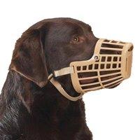 Barking Deterrents basket dog muzzle - New Basket Plastic Dog Muzzle Flexible Various Sizes Nylon Strap Adjustable
