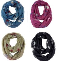 giraffe print - New style Women Infinity Scarves Cute Giraffe Animal print scarf voile Sing Scarf scarf women for winter