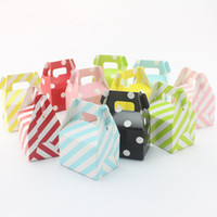 candy packaging supplies - Party Supplies Striped Gift Packaged Boxed Baby Shower Birthday Wedding Favor Gable Style Paper Candy Boxes